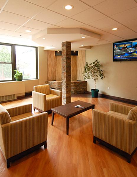 Rehabilitation health care center in site interior design for In site interior design