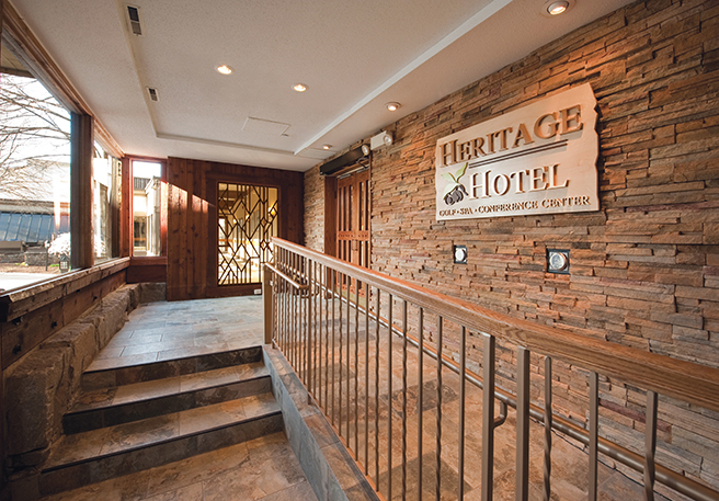 Heritage hotel in site interior design for Interior site